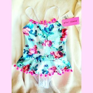 Trendy floral swimsuit by Miss Betsey Johnson
